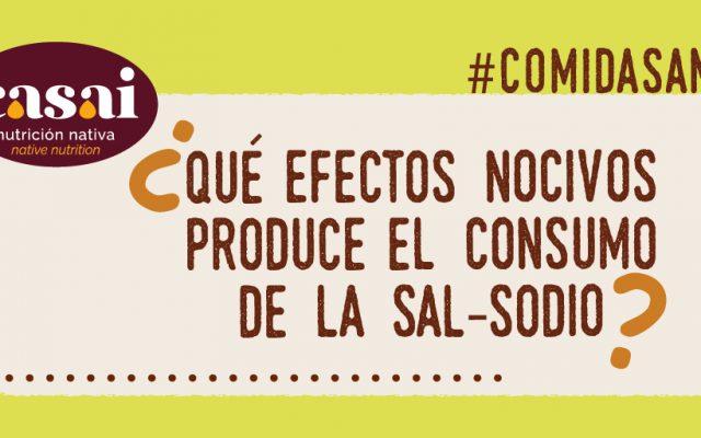 ¿Qué efectos nocivos produce el consumo de la sal-sodio?