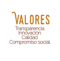 Transparencia, innovación, calidad, compromiso social.
